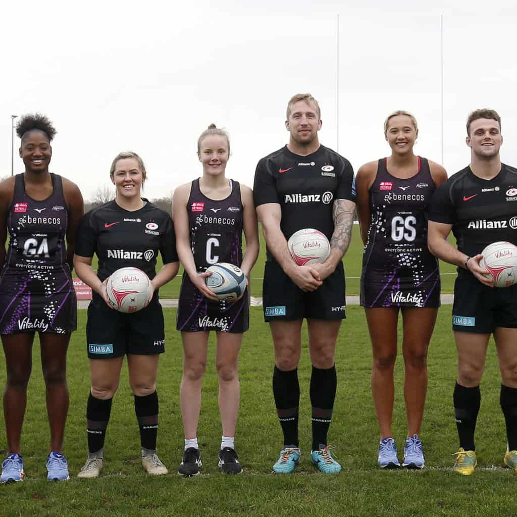 Saracens Rugby and Mavericks Netball
