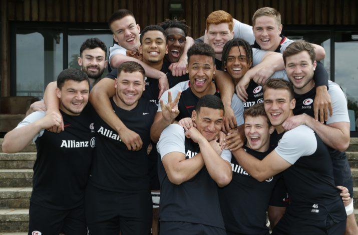 Saracens Academy squad 2018/2019 Saracens Training at Old Albanians RFC, St Albans - 07/05/2019 ©Matthew Impey / Wired Photos Picture by Matt Impey +44 7789 130347