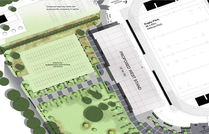 West Stand Landscape Plan