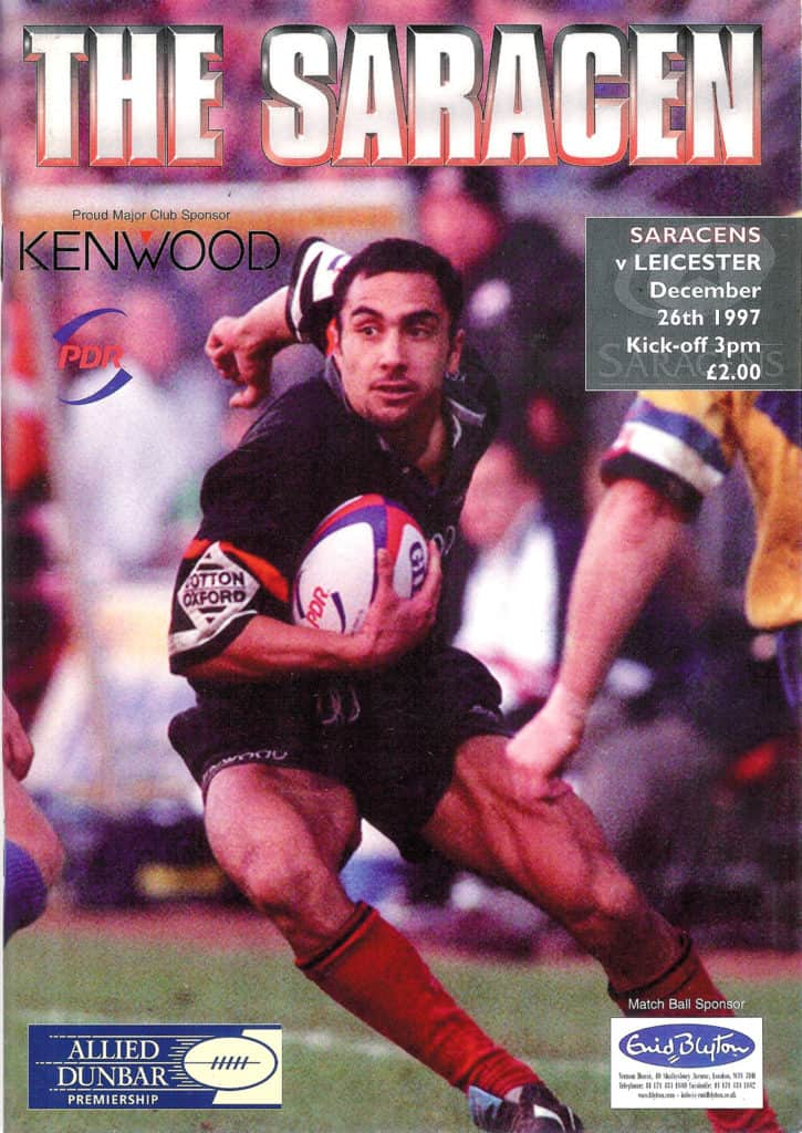 Saracens-v-Leicester-Programme-Dec-26th-1997