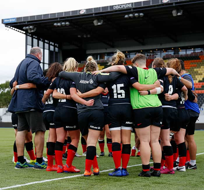 Saracens Women team web post 2