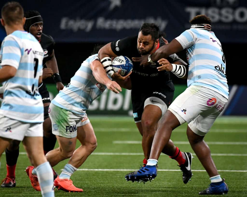 Billy Vunipola is tackled by Georges-Henri Colombe Reazel 26/9/2020