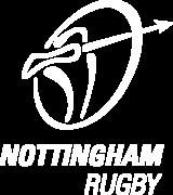 Nottingham Rugby Logo - White