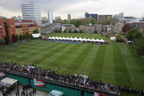 A general view of the Honorarable Artillery Club grounds in the City of London. Saracens v South African Barbarians, Rugby Union, HAC Grounds, London, 16/05/2013 © Matthew Impey/Wiredphotos.co.uk. tel: 07789 130 347 email: matt@wiredphotos.co.uk